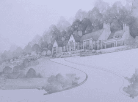 A sketch from plans of the Lloyd Estate.