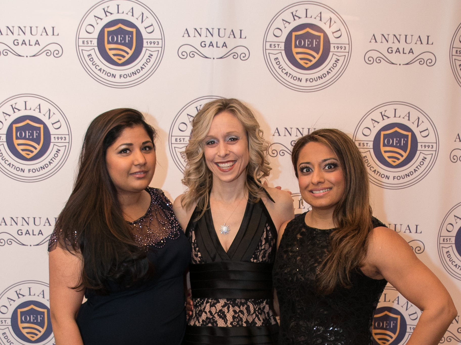 Akansha Kapoor, Lara Popeck, Nisha Patel. The Oakland Education Foundation held their 25th Anniversary Casino Night Gala at Preakness Hills Country Club in Wayne. 03/16/2019