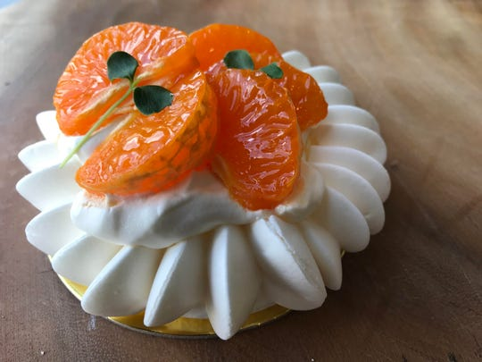It looks like a daisy but tastes like heaven -- dessert at Ciel in Westwood