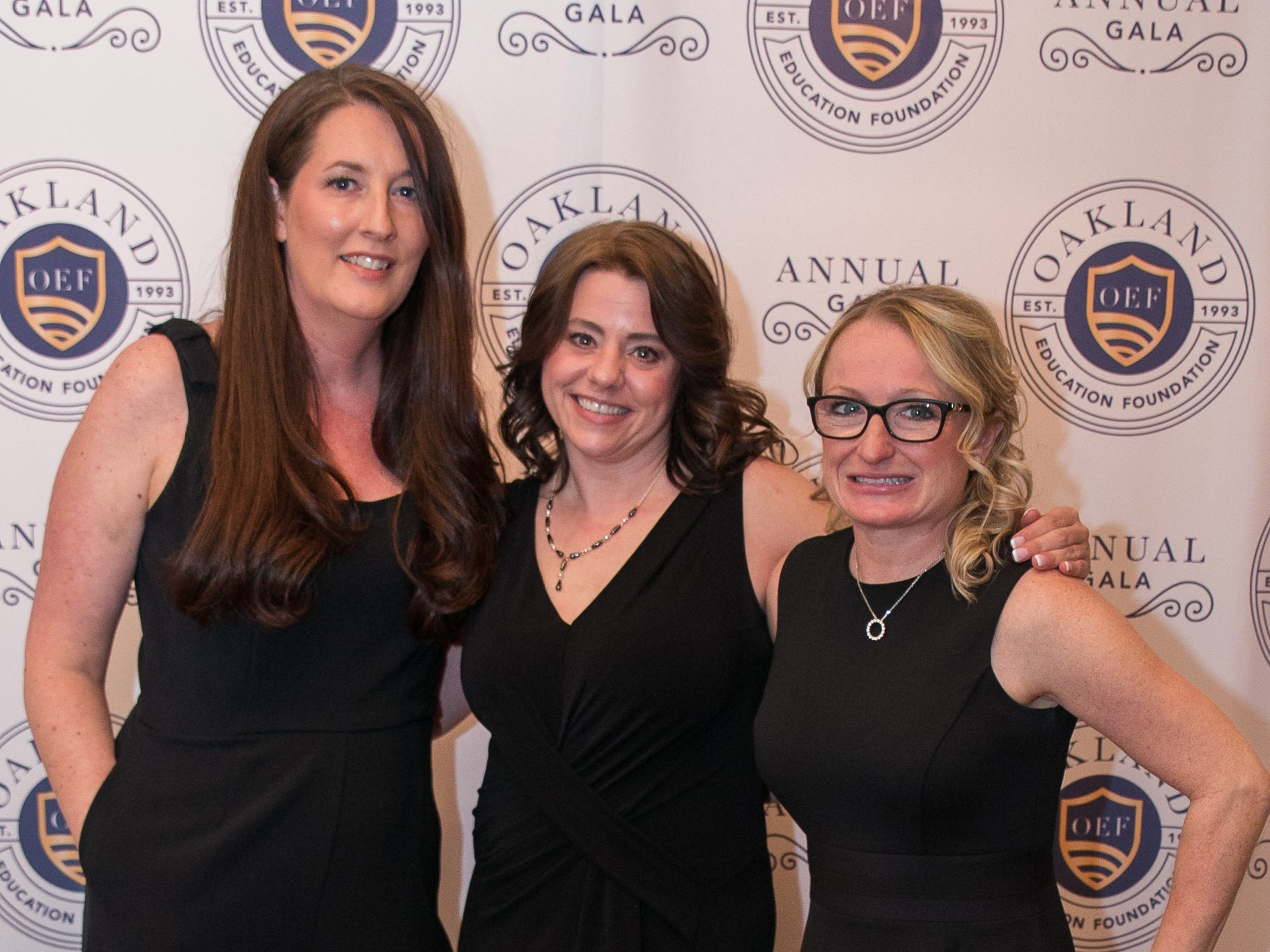 Kerry Thurston, Bree Kehr, Kim Pol. The Oakland Education Foundation held their 25th Anniversary Casino Night Gala at Preakness Hills Country Club in Wayne. 03/16/2019