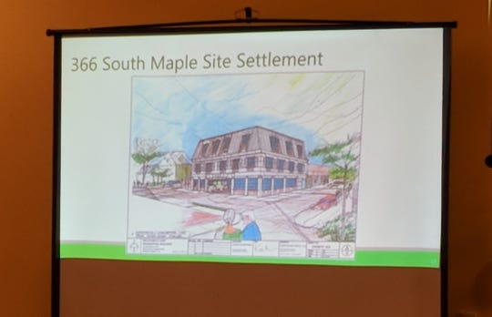 A rendering of the proposed 366 South Maple Ave. development, shared by the Glen Rock planner.