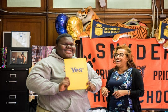 Dylan Chidick, 17, of Jersey City got accepted to The College of New Jersey, his first choice, after 17 other acceptance letters rolled in.
