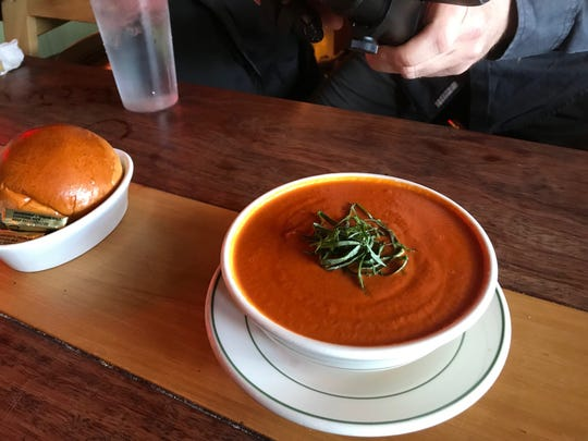 Creamy tomato soup at the Farmhouse Cafe in Westwood