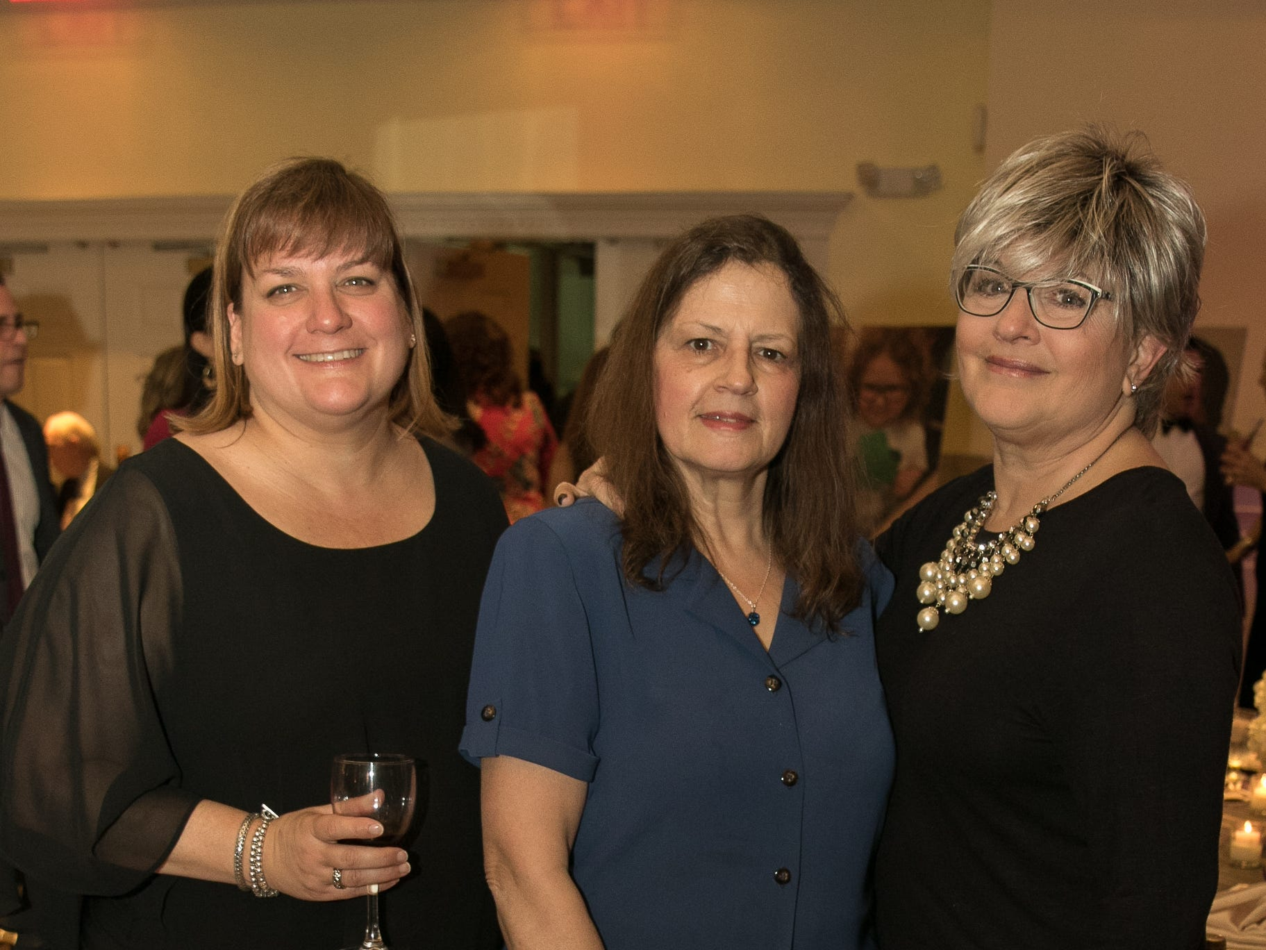 Teresa Golin, Sue Quimby, Trish Riggio. The Emmanuel Cancer Foundation 9th Annual Bash at The Brick House. 03/15/2019