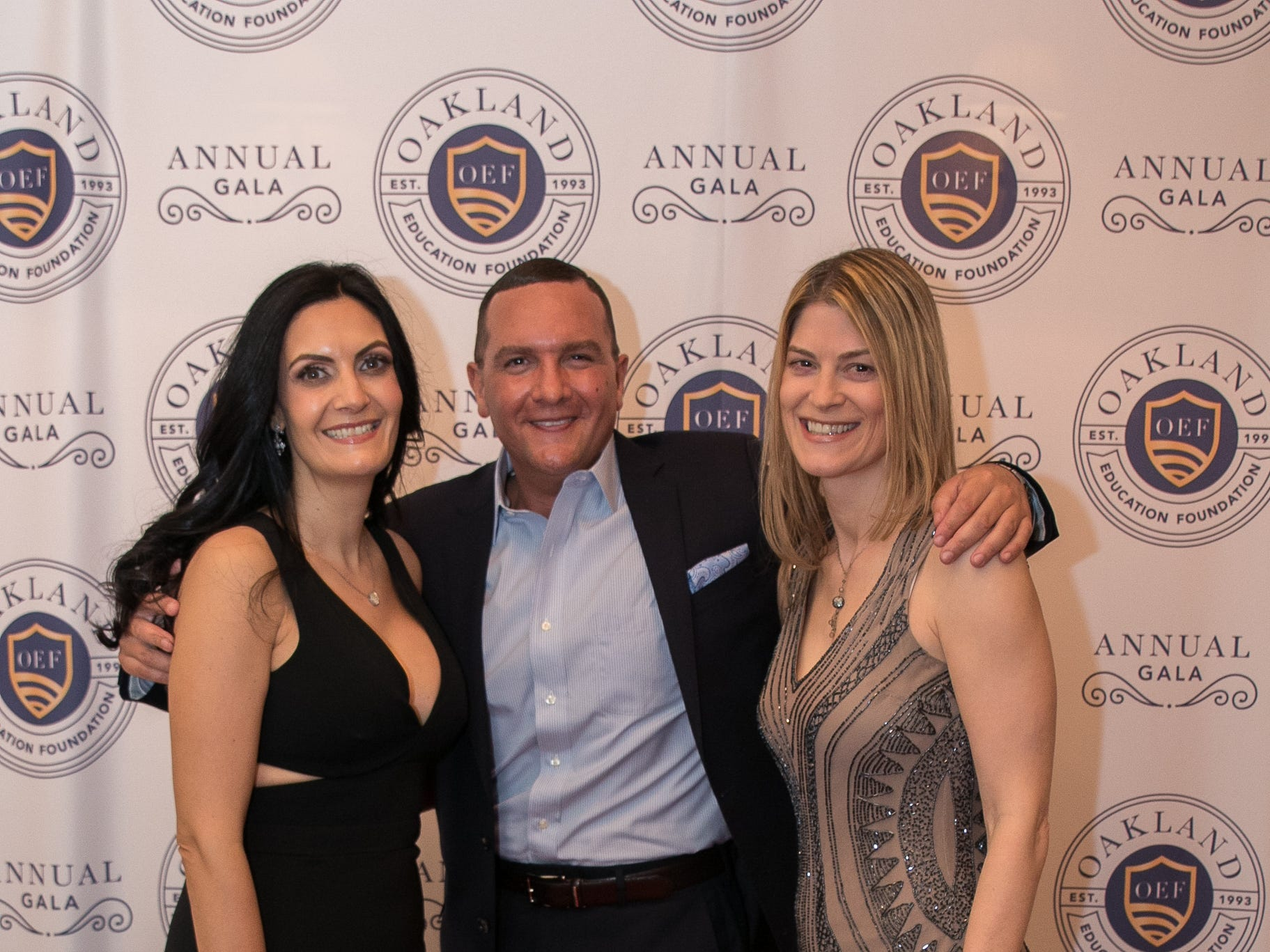 Angela Magliocchetti, Danny Charles, Leslie Trolaro. The Oakland Education Foundation held their 25th Anniversary Casino Night Gala at Preakness Hills Country Club in Wayne. 03/16/2019