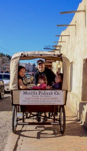 Pedicab operated by Mesilla Pedicab Co. operates in the historic part of Mesilla.