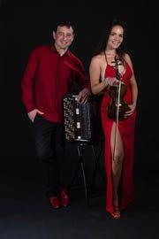 Internationally acclaimed accordion player, Sergei Teleshevand world renowned violinist and singer, Natasha Popova, will perform at the Rio Grande Theatre at 3p.m.