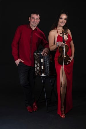 Internationally acclaimed accordion player, Sergei Teleshev and world renowned violinist and singer, Natasha Popova, will perform at the Rio Grande Theatre at 3 p.m.