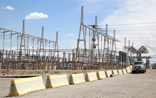 The electrical substation at the San Juan Generating Station is pictured on Monday August 1, 2016, in Waterflow.