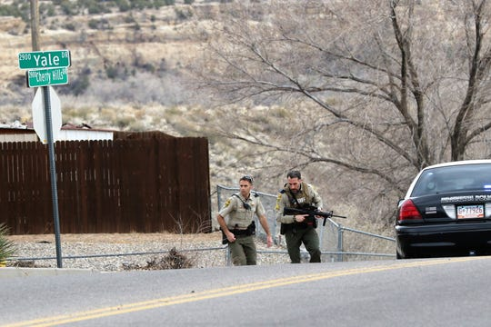 San Juan County Sheriff's Deputies responded to a barricaded armed suspect on the 2900 block of Yale Drive in Farmington on Monday.