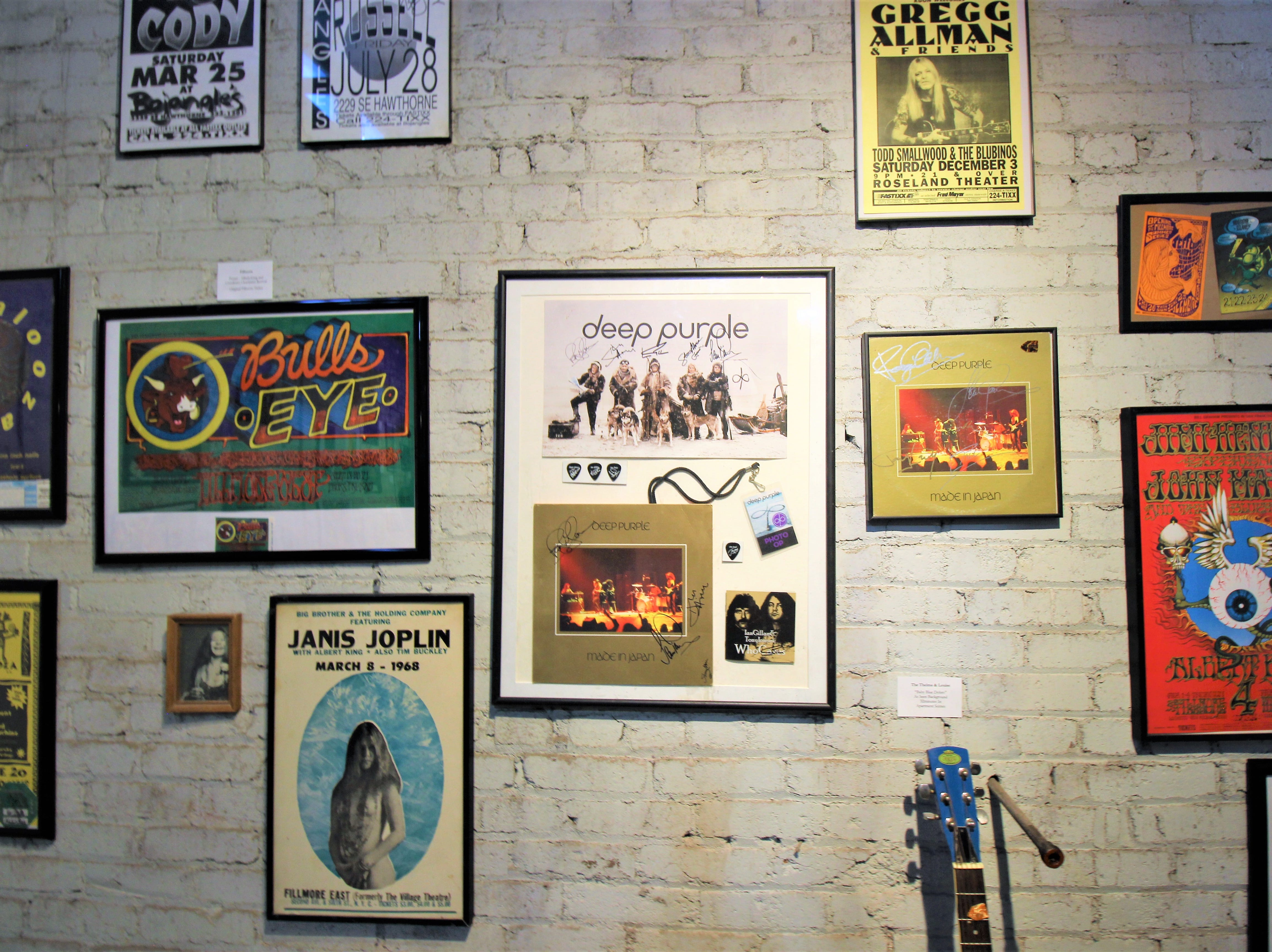 So many legends over many decades not forgotten, on exhibit at the Carrizxoz Rock and Roll Hall of Fame.