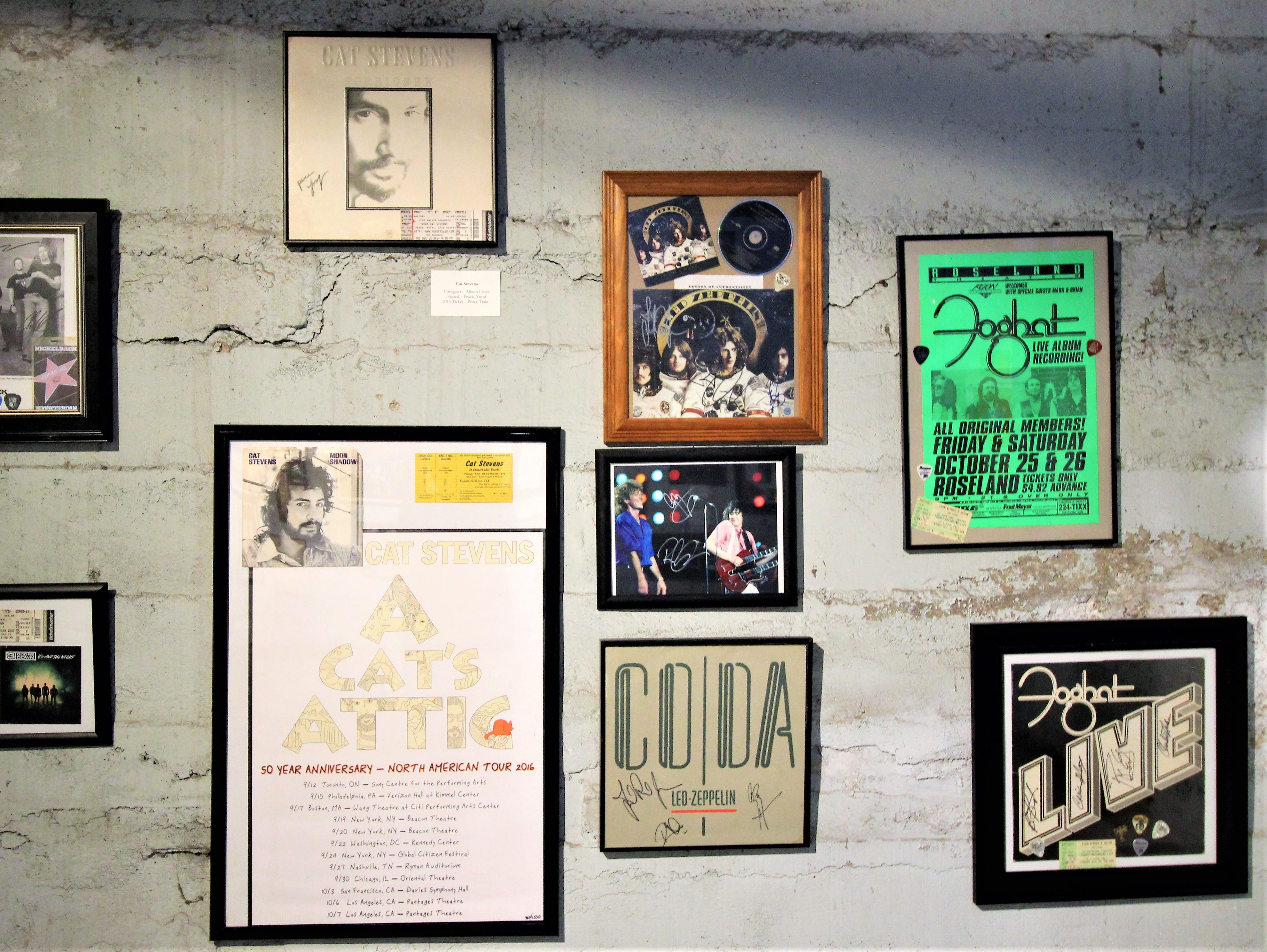 The greats live on forever. Rock and Roll never dies, especially when walls are covered with great pieces of memorabilia generously donated by the owner James Lane.