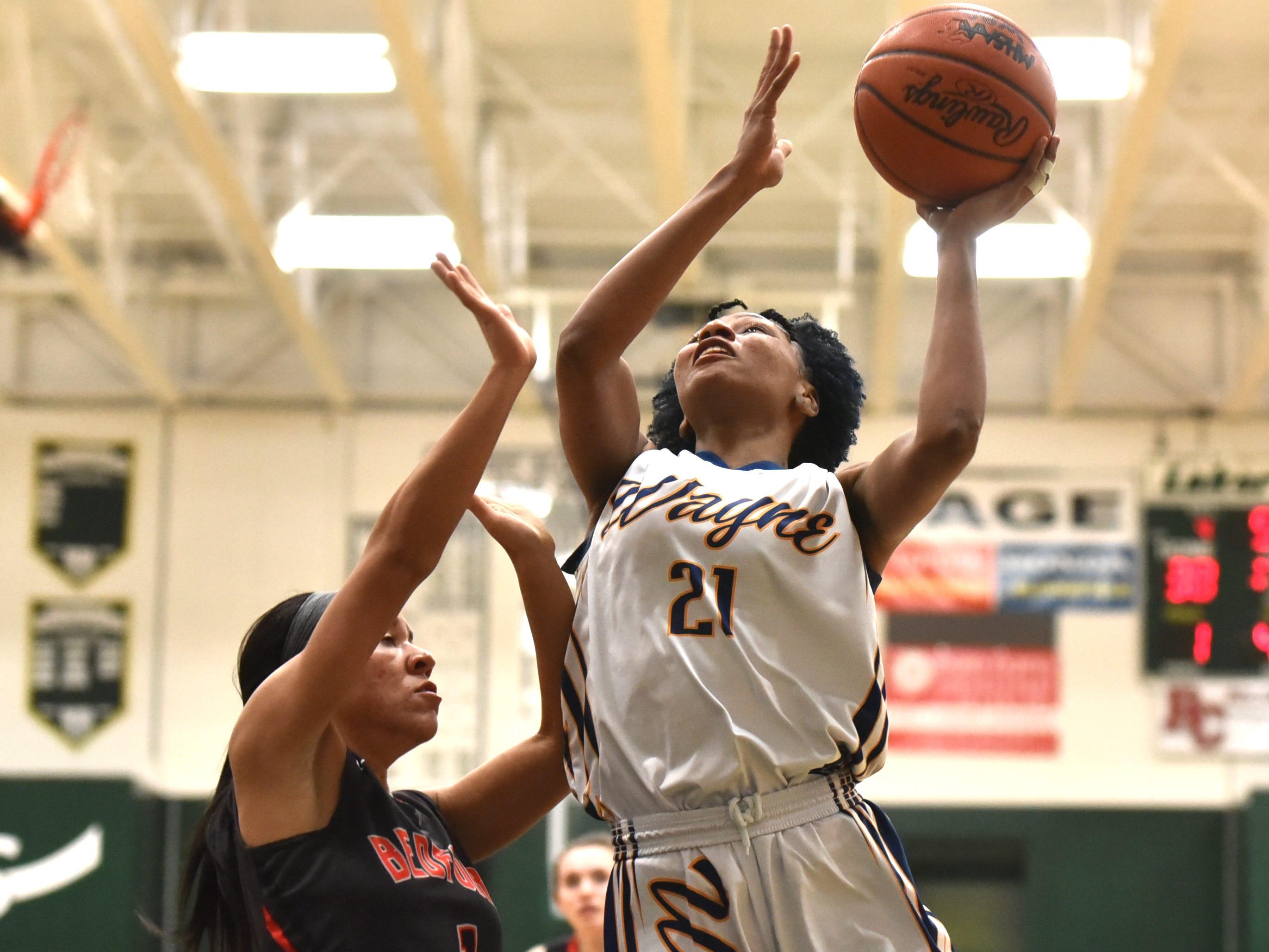 Zebra Sammiyah Hoskin puts up a shot.