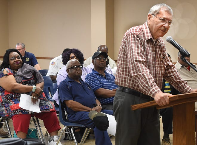 Lafayette author and historian John Francois proposes a historical marker to commemorate the Opelousas militia in 1779 during a regular meeting of the Opelousas Board of Alderman.