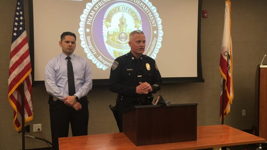 Capt. Mike Kovaleff gives details on an incident involving a woman held against her will in Palm Springs.