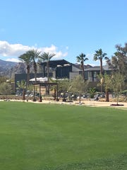 The renovated clubhouse at the Golf Club at La Quinta, sitting behind the courses driving range, includes a new bar and updated restaurant and deli facilities.