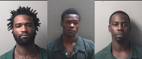 Cordarin Simmons, left, Leroy Benjamin and Jesse Square.