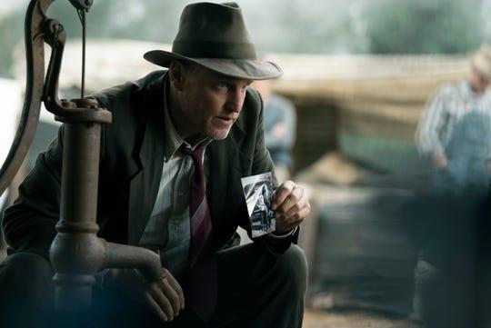 "In ""The Highwaymen,"" Maney Gault (Woody Harrelson) is a hard-drinking lawman."