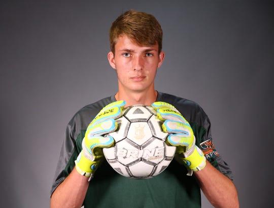 Jacob Zimmerman, soccer goalie from Campo Verde High School on Mar. 18, 2019 in Phoenix, Ariz. #AZCSA