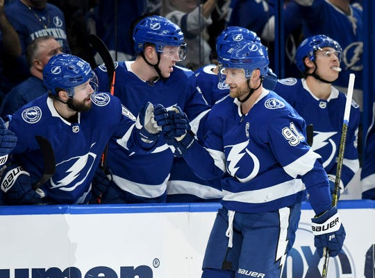 Nikita Kucherov helped lead the Lightning to the Presidents' Trophy this season with an NHL-best 128 points.