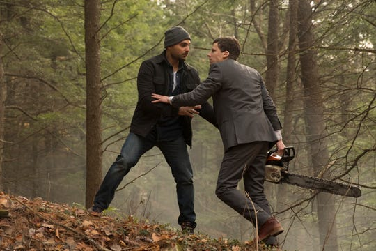 """Michael Mando (left) and Jesse Eisenberg star in """"The Hummingbird Project."""""""