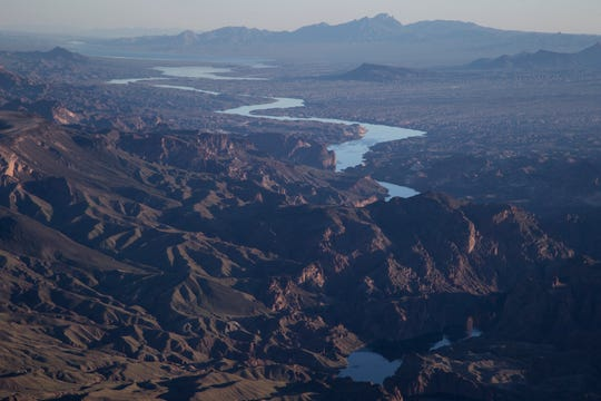 The Colorado River March 18, 2019, south of Hoover Dam.