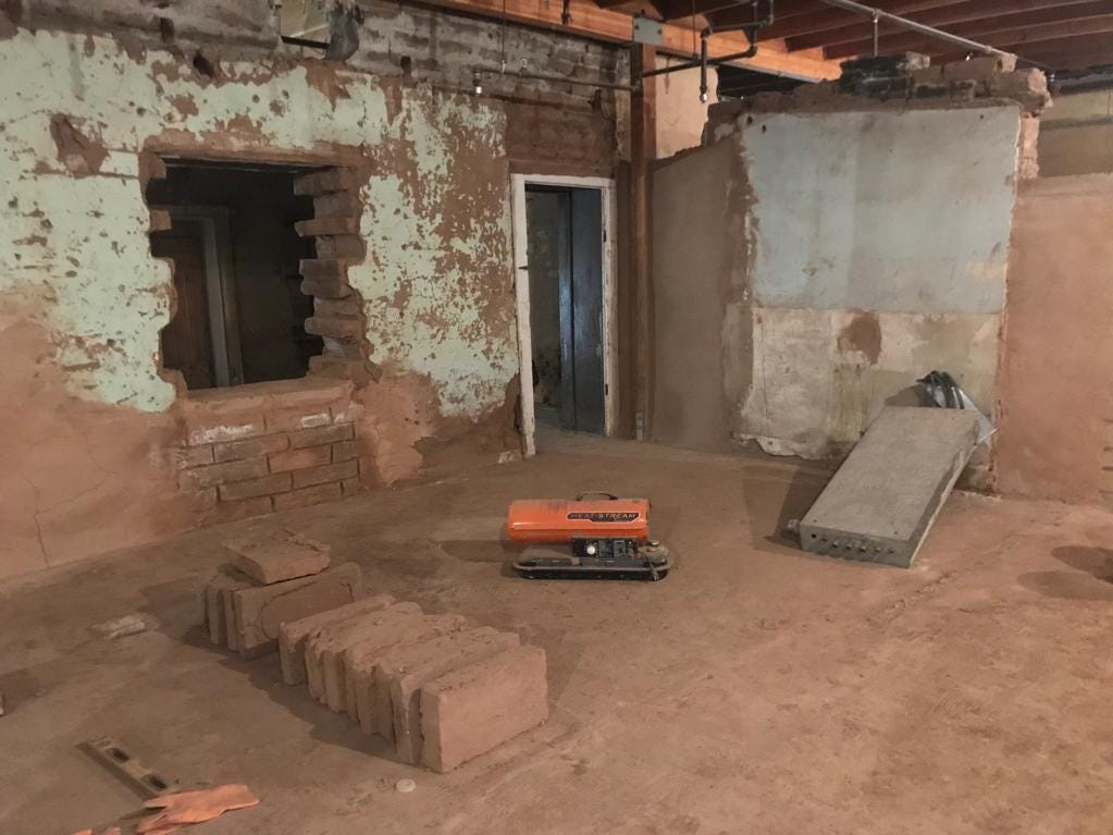 Crews have been working since fall 2018 to create new adobe bricks to replace bricks that have been damaged over the years as part of the restoration project.