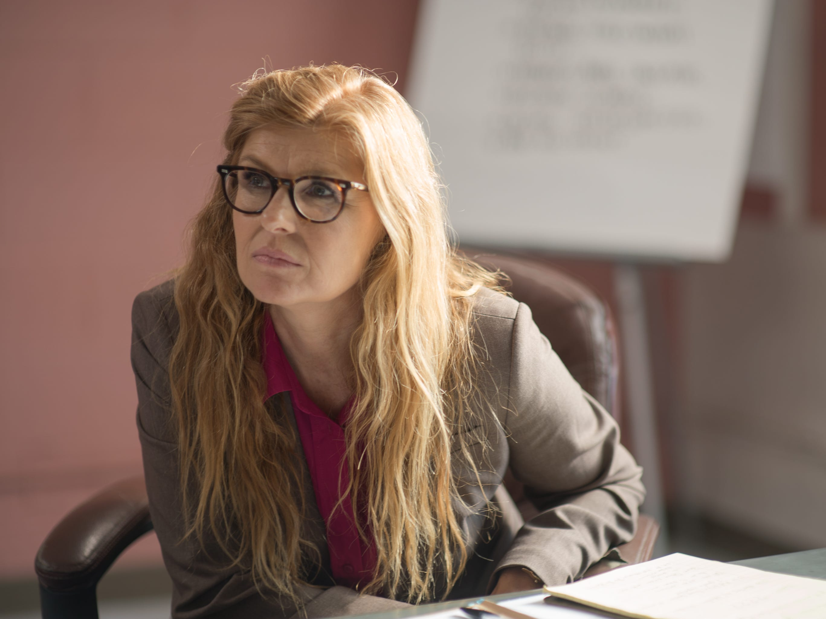 "Connie Britton plays a prison psychologist in ""The Mustang."""