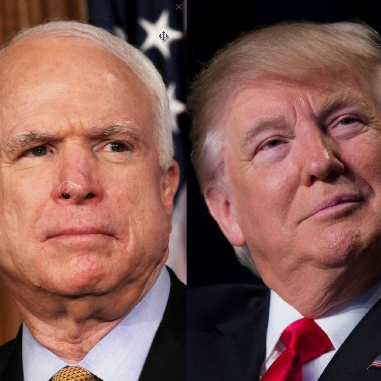Donald Trump: 'I was never a fan of John McCain, and I never will be'