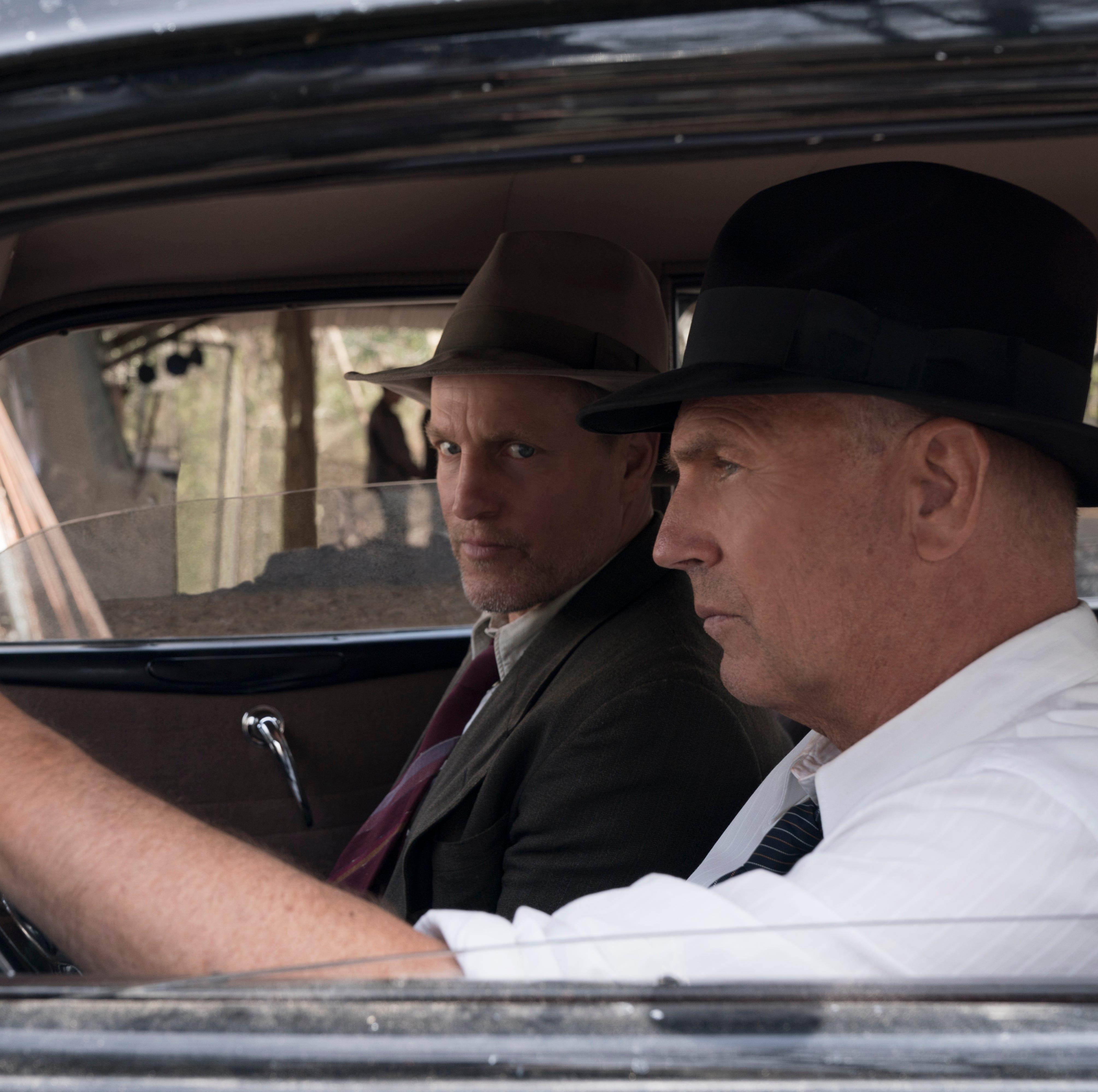 "Real-life G-men Maney Gault (Woody Harrleson, left) and Frank Hamer (Kevin Costner) are the focus of ""The Highwaymen."""
