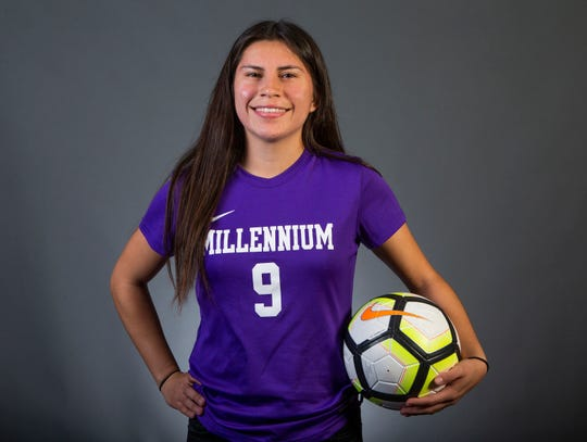 Girls Soccer Player of the Year nominee Anacel Valenzuela-Acosta of Goodyear Millennium #azcsportsawards