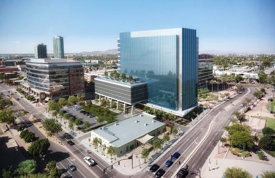 Real estate investment companies Hines and Cousins Properties plan to build a 15-story office tower and hotel or apartment complex on the 2.5 acre site at Mill Avenue and Rio Salado Parkway.