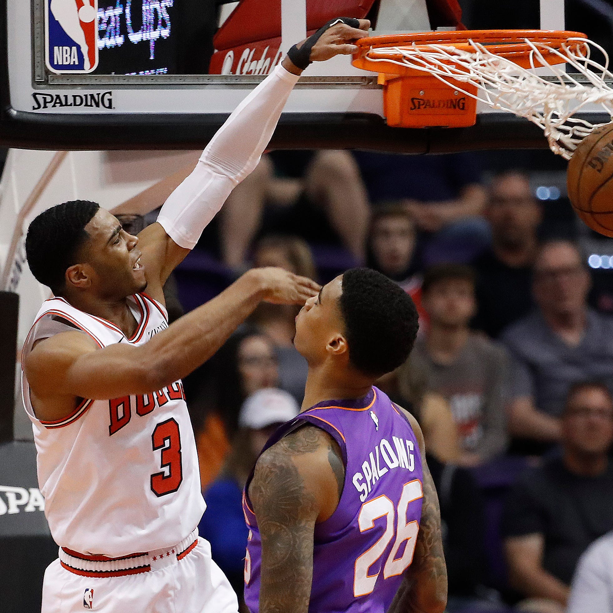 Bulls' Shaquille Harrison gets back at the Suns, who cut him before the season started