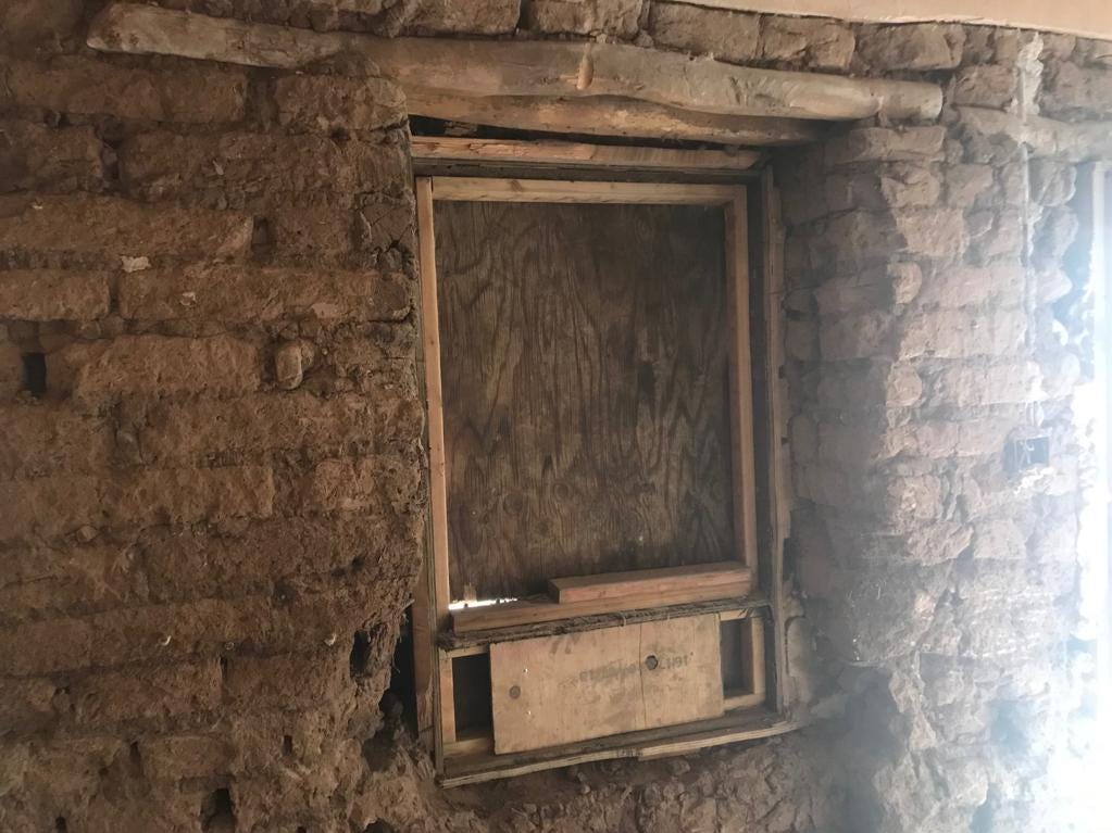 A window that dates back to when the home was first built in the late 1800s was discovered behind plywood.