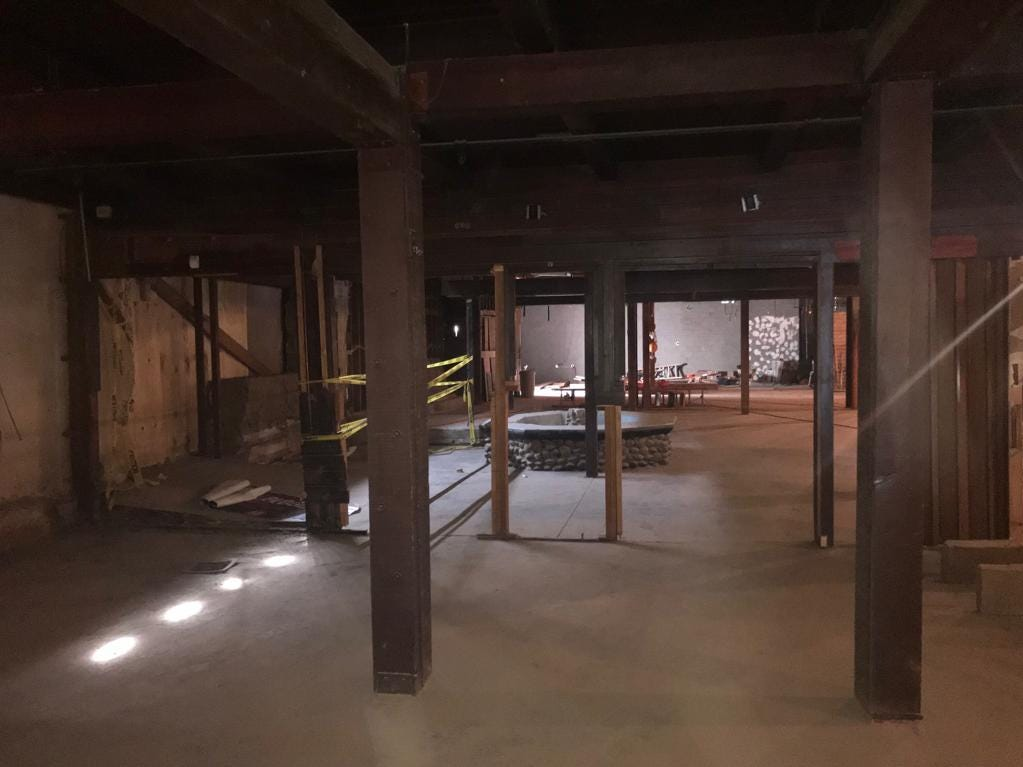 An outdoor courtyard that was converted into an indoor dining space will be restored to its original form.