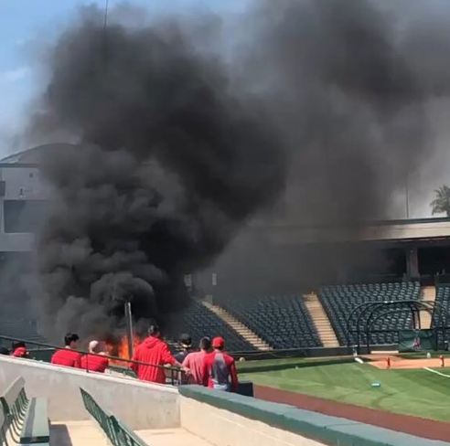 Fire breaks out at Tempe Diablo Stadium, spring training home of Los Angeles Angels