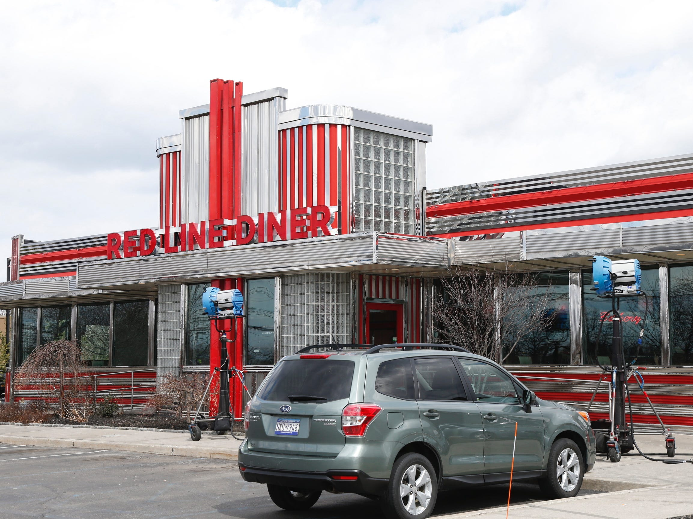 A movie filmed at the Red Line Diner on Tuesday.