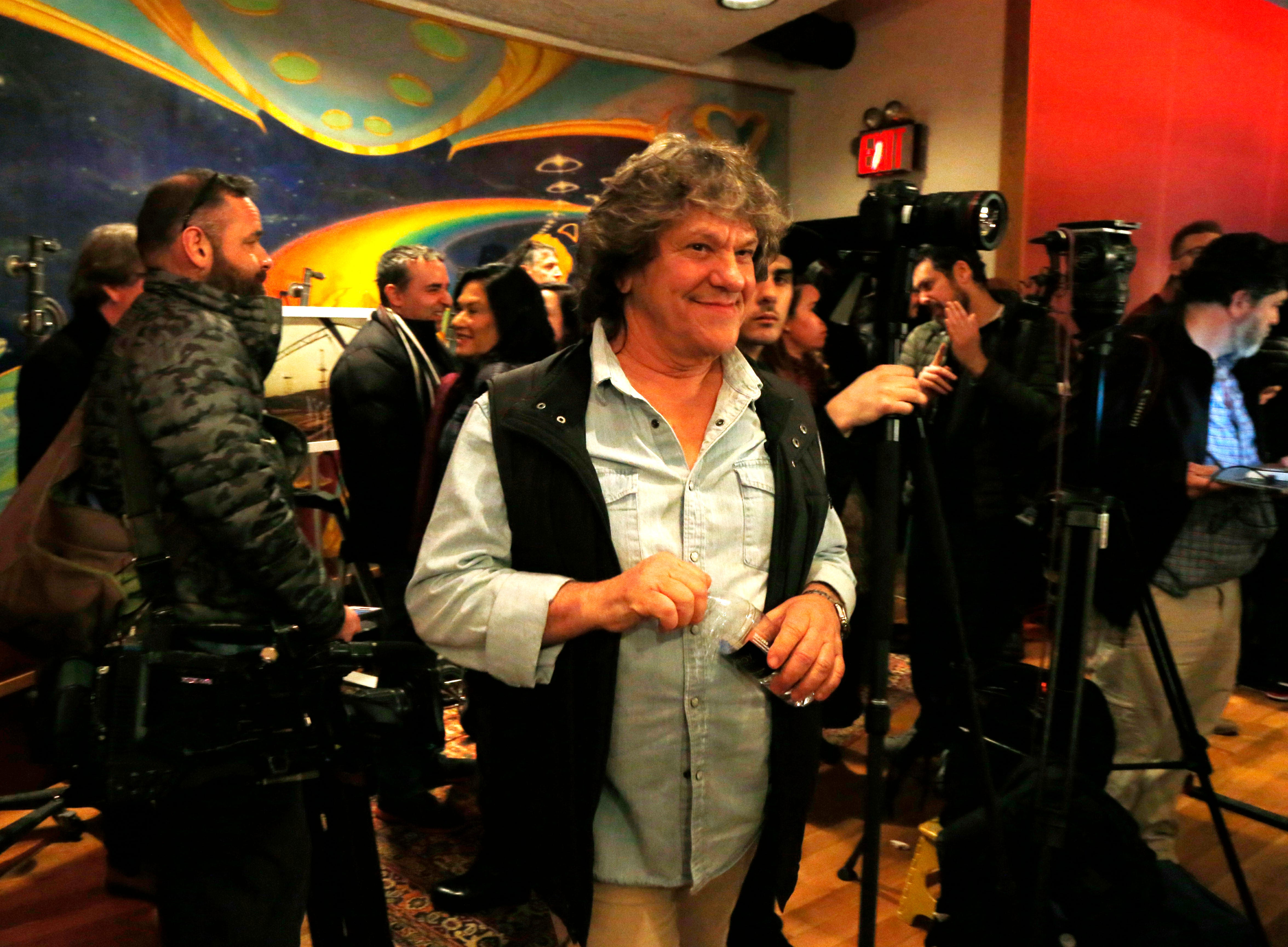 Michael Lang following the announcement of the Woodstock 50 line up at Electric Lady Studios in New York City on March 19, 2019.