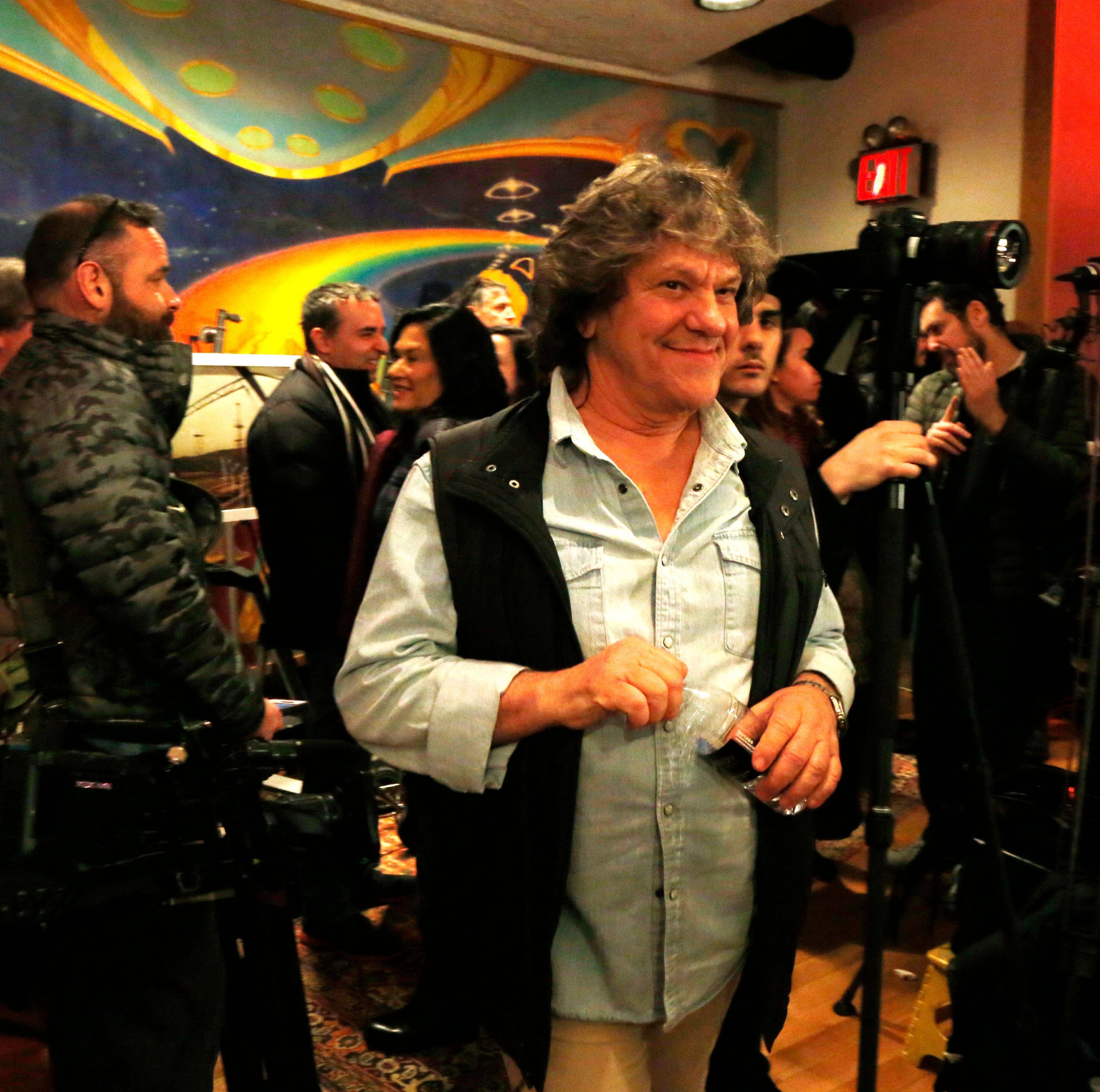 Michael Lang following Tuesday's announcement of the Woodstock 50 line up at Electric Lady Studios in New York City on March 19, 2019.