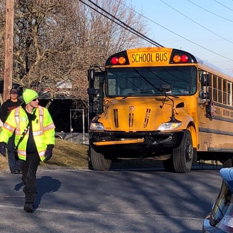 Police: York Tech student hospitalized after school bus crash near York Suburban HS
