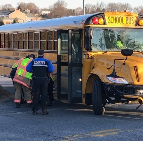 School bus filled with students involved in crash Tuesday morning