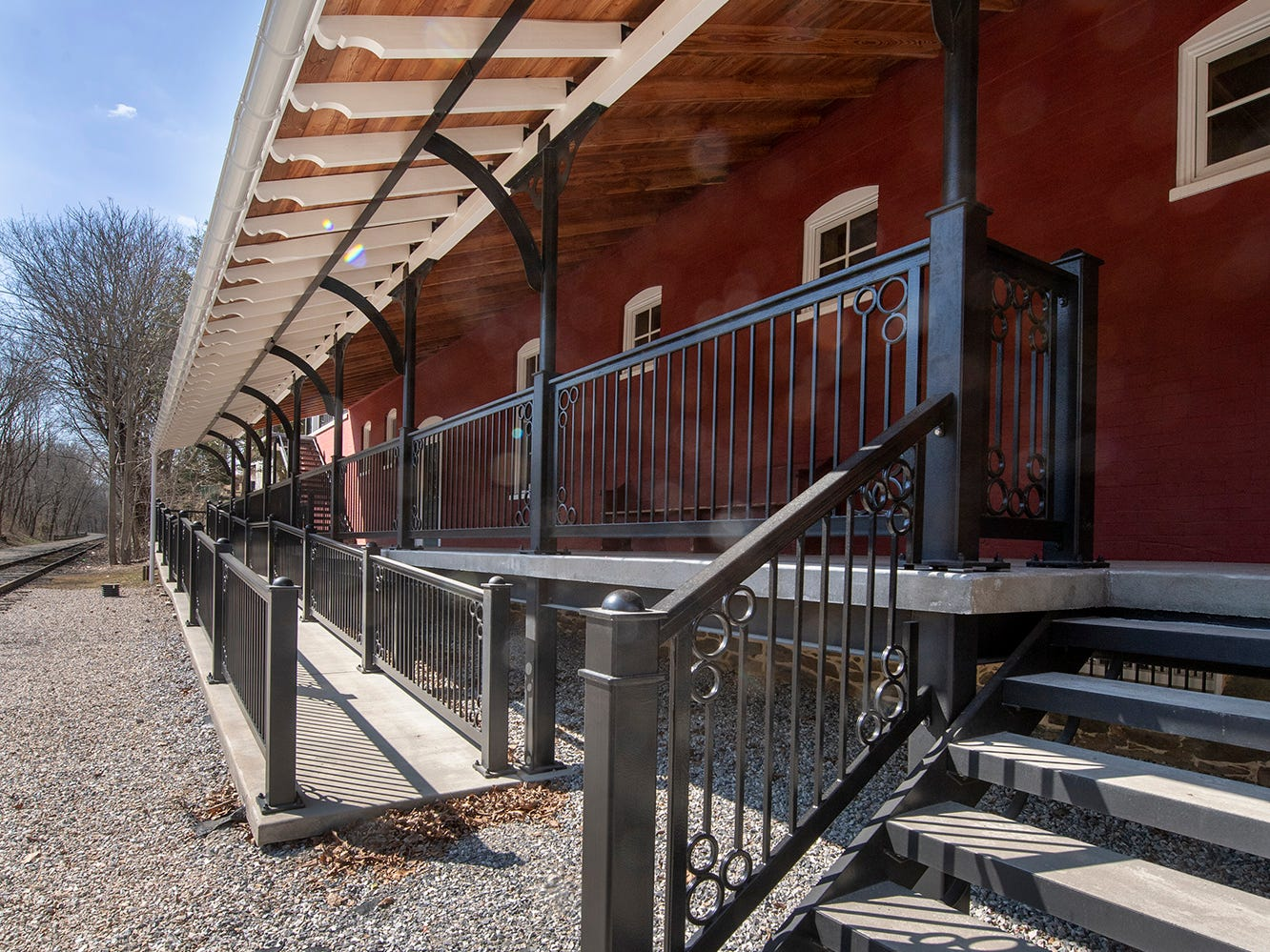 David Keller and Ellen Darby leased an area in the 30-foot right-of-way of the York County Heritage Rail Trail from the county to build the porches and stairs along in Seitzland Village outside of Glen Rock.