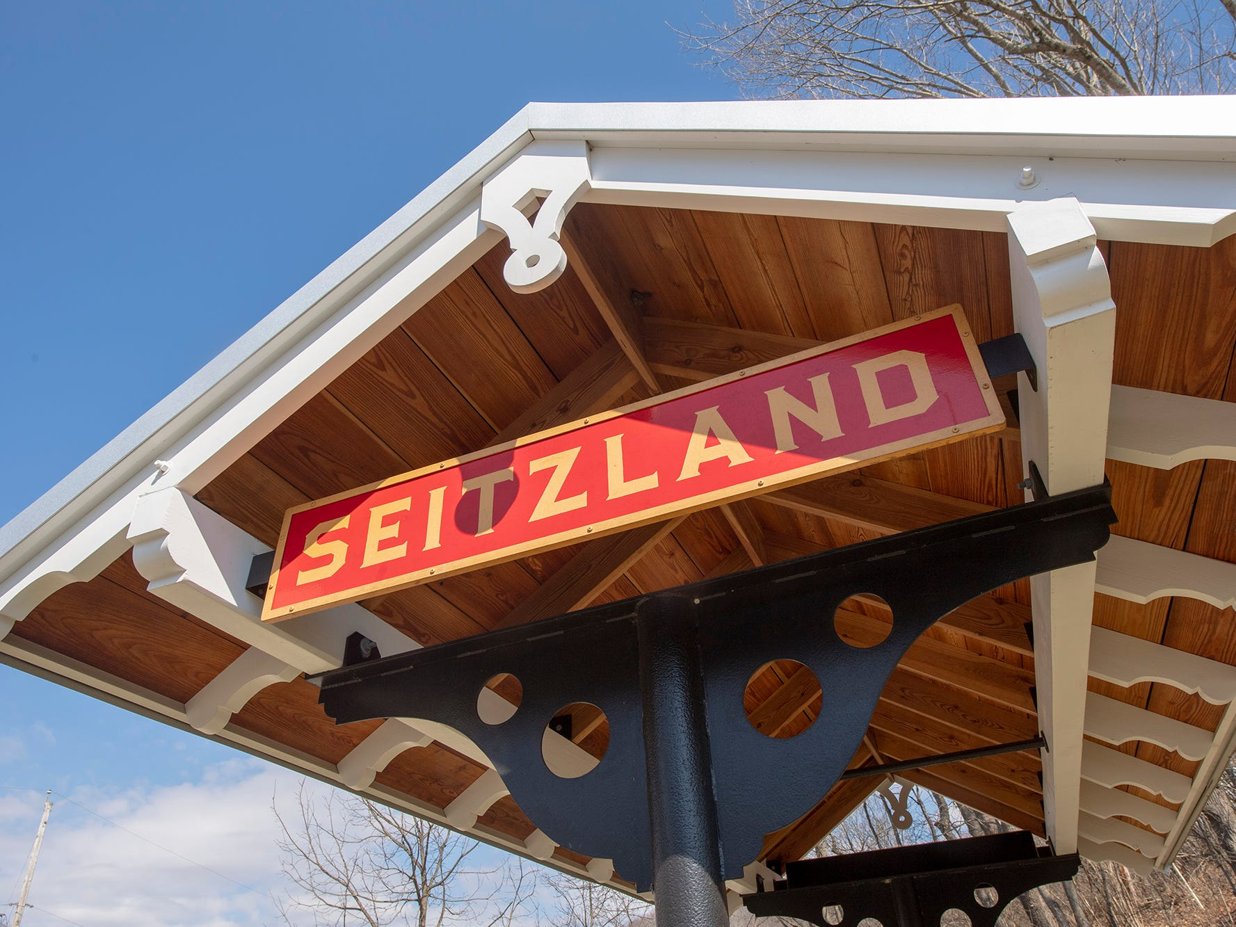 The Seitzland train station is next to the York County Heritage Rail Trail.