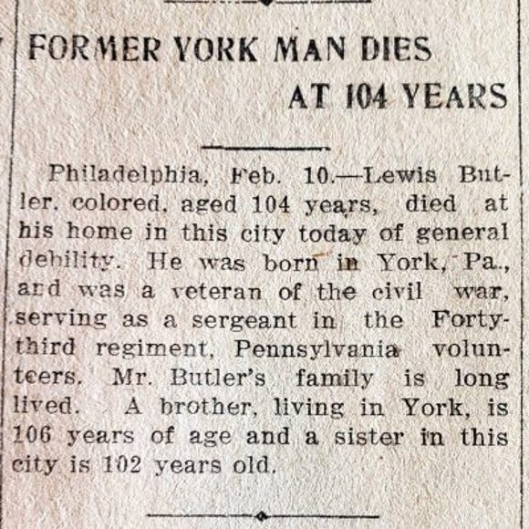 Clipping from the York Weekly, February 12, 1903.