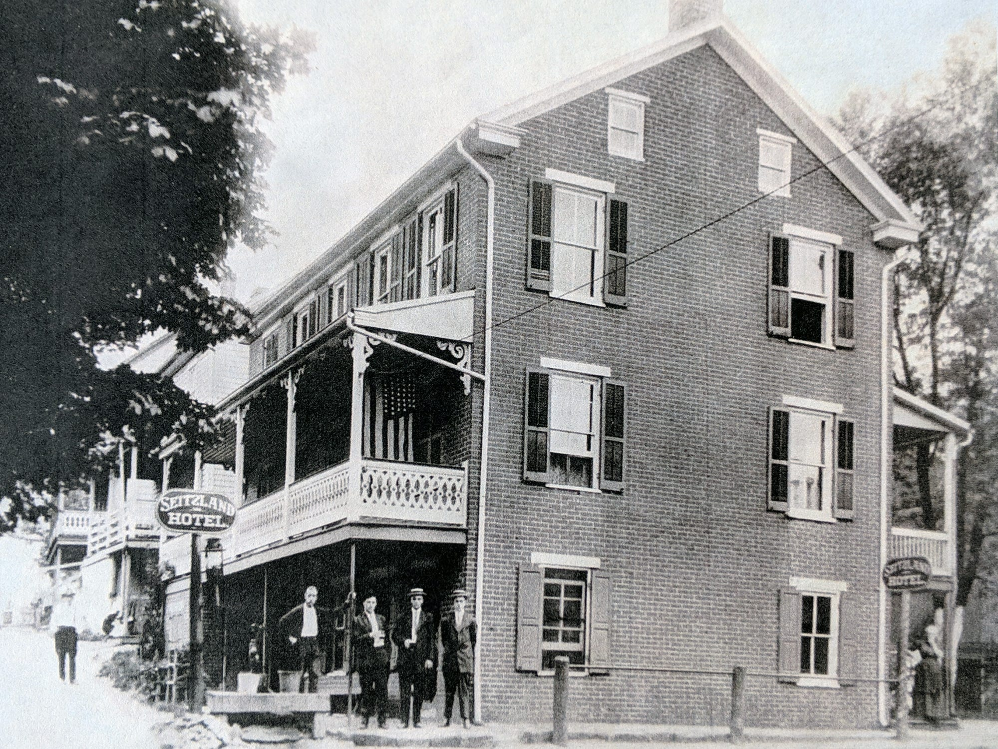 The Seitzland Hotel is shown as it looked in an undated photo. The former hotel is behind the renovated store and is currently apartments.