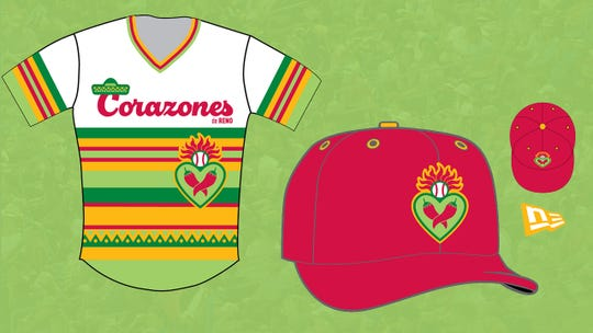 The Reno Aces will become Los Corazones  for four games this season