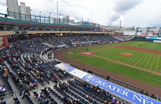 The Reno Aces' opening day at Greater Nevada Field is April 9.