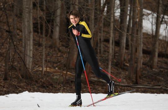 Teddy Warfle, HFL. Boys Nordic Skier of the Year 2019.