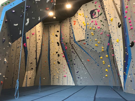 Central Rock Gym offers 80 routes in its main climbing room, with another 75 routes in the bouldering room.