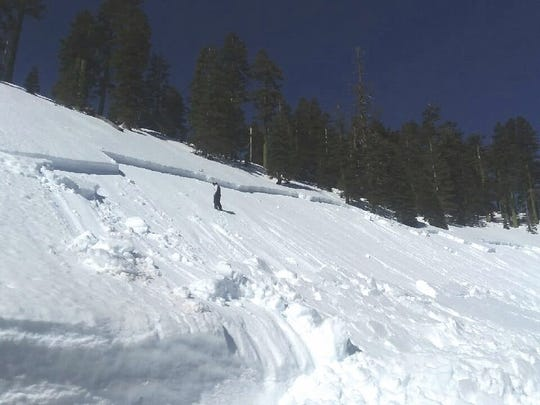 A small avalanche hit the slopes of Mt. Shasta just below Bunny Flat on Monday afternoon.